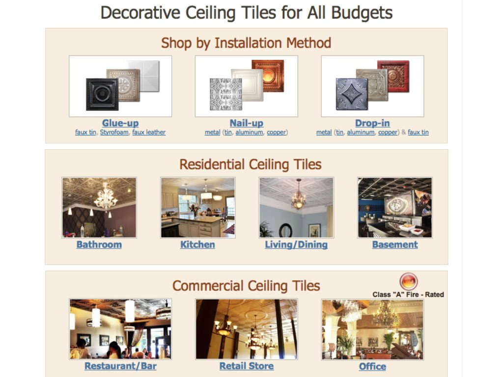 Decorative Ceiling Tiles for All Budgets