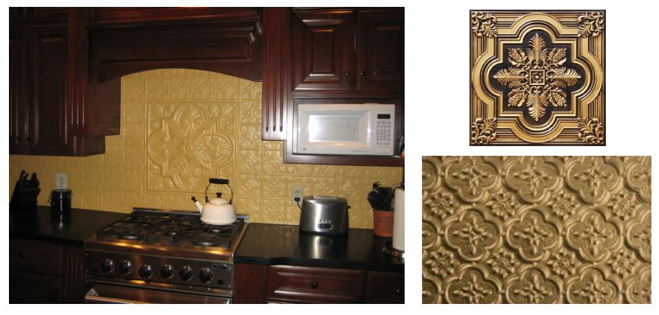 Faux Tin Backsplash Inspiration