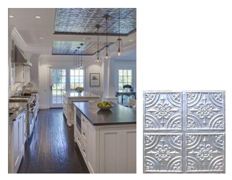 Faux Tin Ceiling Inspiration for Kitchens