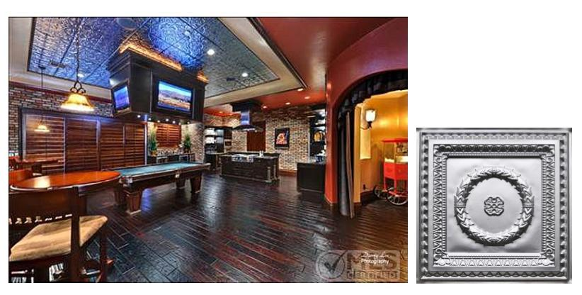 Residential_Faux_Tin_Ceiling_Inspiration_Man_Cave