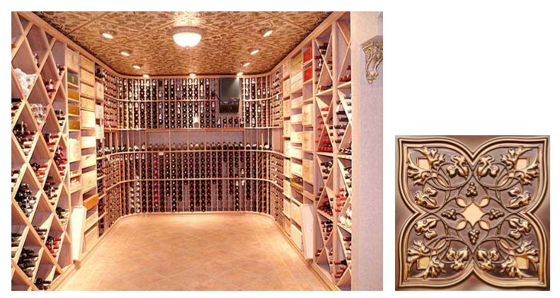 Faux Tin Ceiling Inspiration for Wine Cellars