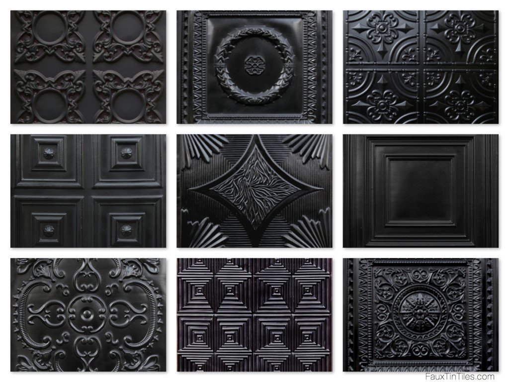 Black Ceilings Decorative Ceiling Tiles Tin Ceilings