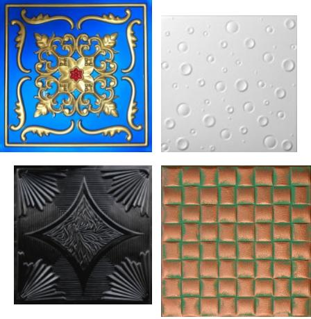 Faux Tin Tile Set Design Inspiration