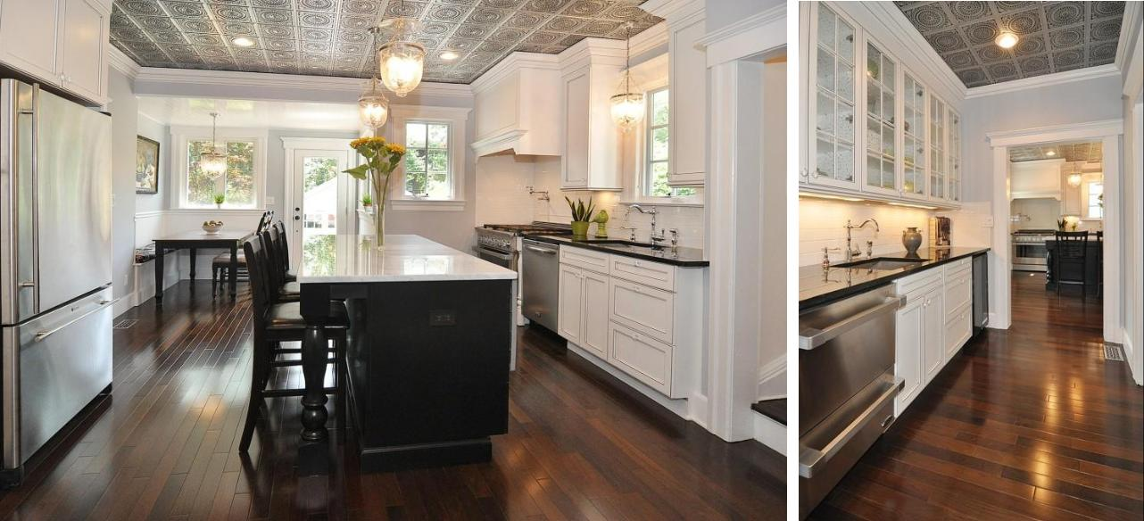 Beautiful Kitchen Remodel With Faux Tin Tile Ceilings