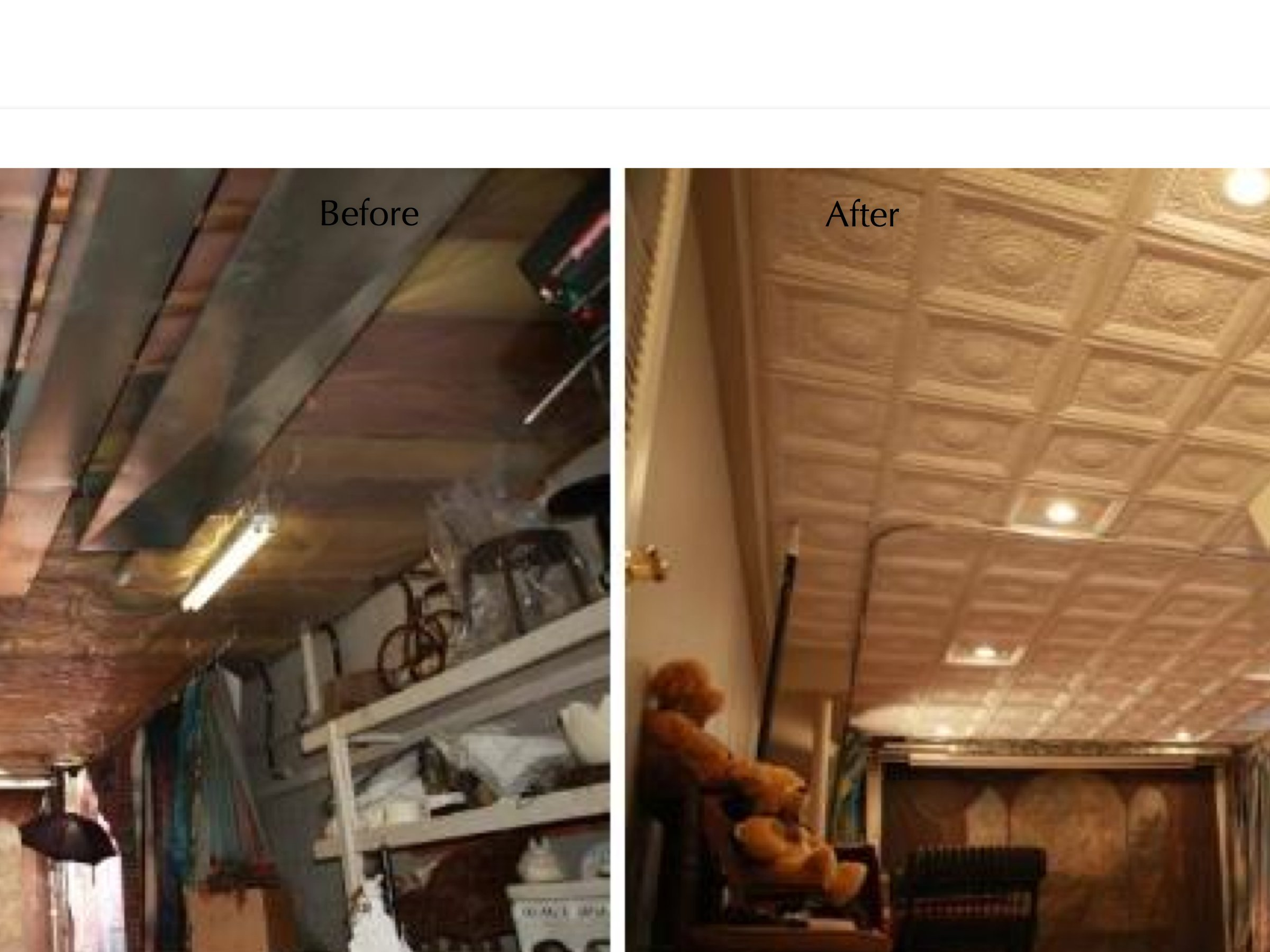 Winner Of The Ugliest Ceiling Contest Before And After