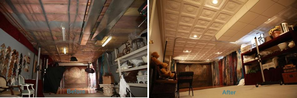 Winner of the Ugliest Ceiling Contest - Before and After Photos