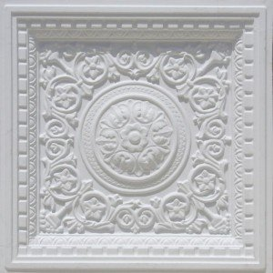 VC 02 White Matte Faux Tin Ceiling Tiles