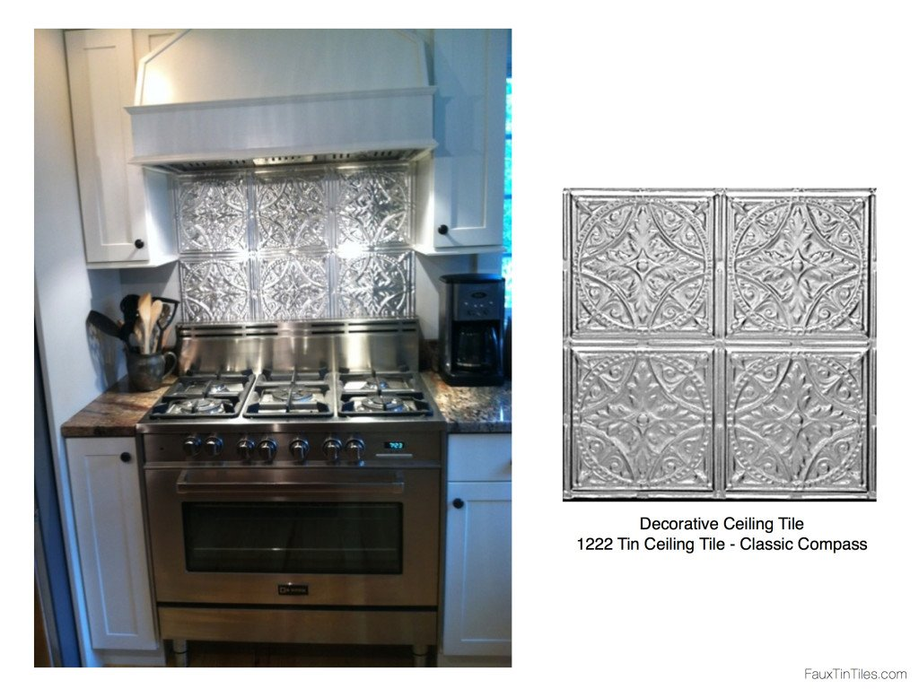 Stainless Steel Stove + Fabulous Tin Backsplash