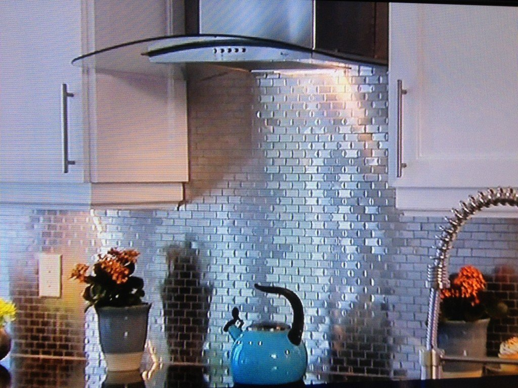 Tin Backsplash on Property Brothers | Decorative Ceiling Tiles ...