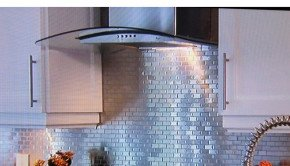 Tin Backsplash on Property Brothers