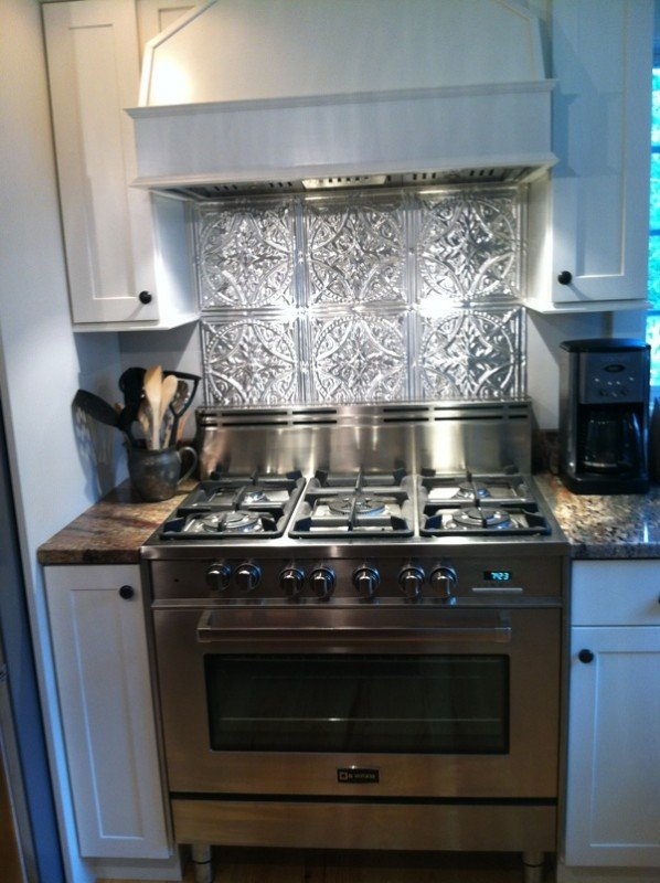 stainless steel stove fabulous tin backsplash decorative ceiling