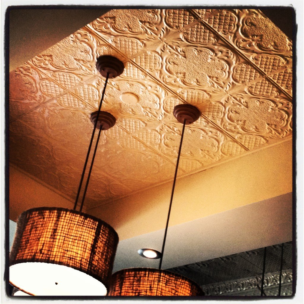 Ceiling Tiles at Intertwined Bistro & Wine Bar in Escondido California