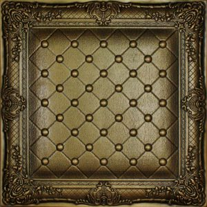 DCT LRT 03 Faux Leather Wall and Ceiling Tiles - Vintage Gold