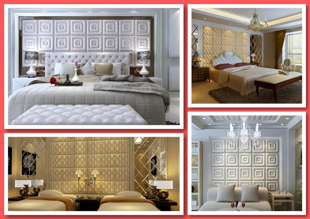 Faux Leather Tile Bedroom Accent Walls, Faux Leather Wall Panels