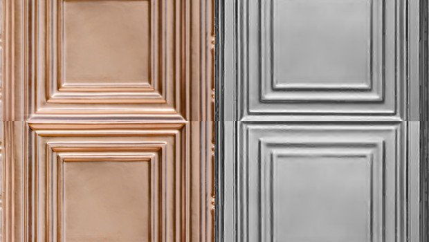 Classic Edgerton Square Tin & Copper Ceiling Tiles for Commercial & Residential Installations