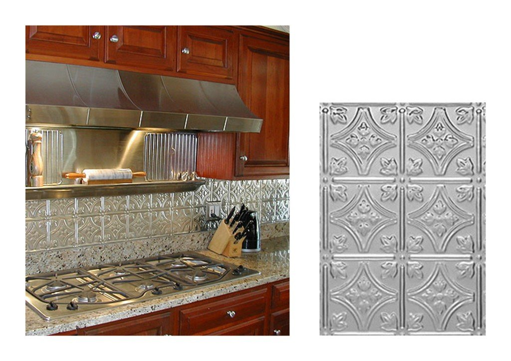 Kitchen Backsplash Ideas, Decorative Tin Tiles, Metal Backsplash on black white and gray kitchen ideas, metal kitchen decor, kitchen ceiling ideas, metal kitchen tables, small kitchen with island design ideas, metal kitchen countertops, granite tile countertops kitchen ideas, cheap kitchen counter ideas, copper kitchen ideas, metal kitchen ceilings, metal kitchen shelves, metal bathroom, unique kitchen ideas, metal outdoor kitchen, kitchen wall ideas, metal kitchen carts, metal kitchen backsplashes, cheap kitchen update ideas, metal backsplash for kitchen, metal kitchen islands,