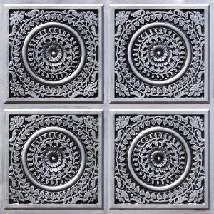 117 Antique Silver Faux Tin Ceiling Tiles
