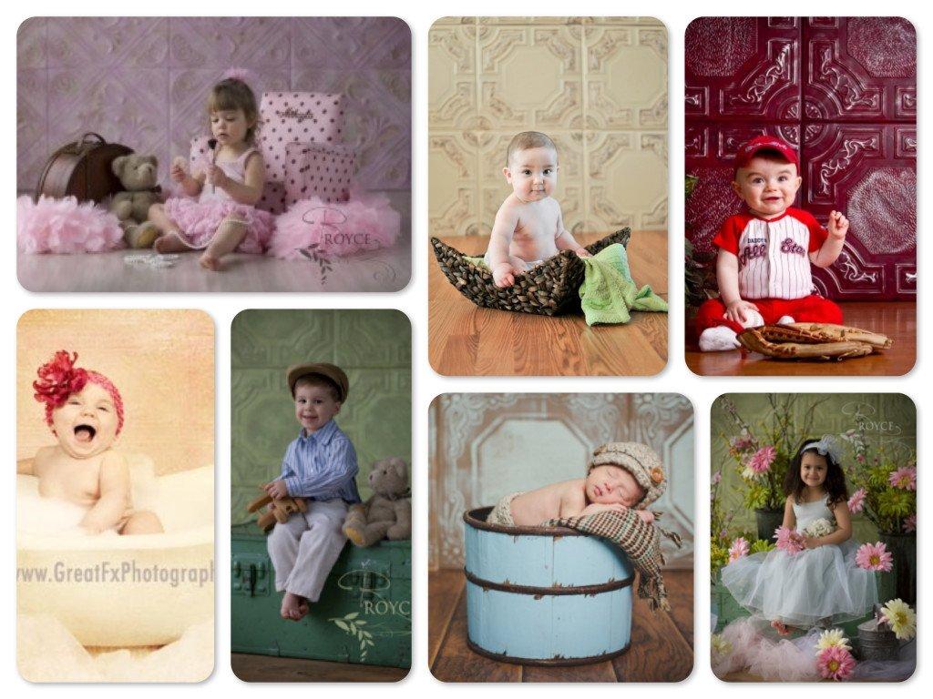 Faux Tin Tile Photography Backdrops