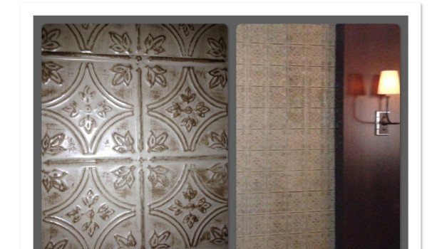 Faux Tin Tile Walls in Restaurant Private Dining Room | Decorative ...