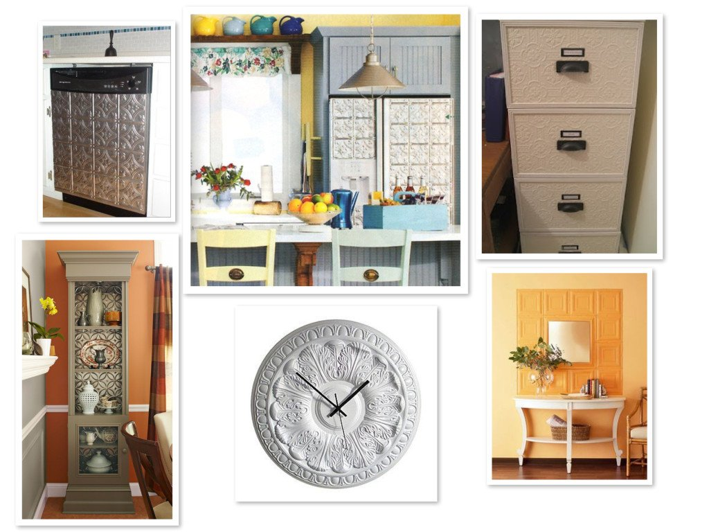 DIY Home Decor Update with Tin Tiles