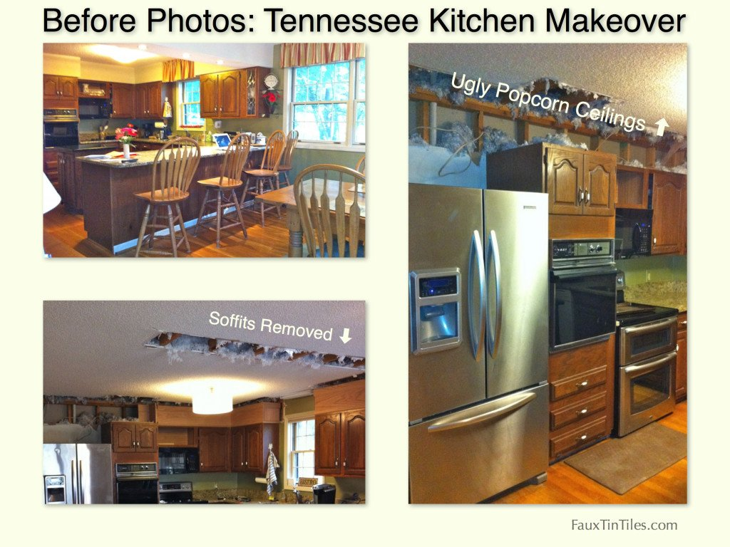 Before Photos - Tennessee Kitchen with Popcorn Ceilings Makeover