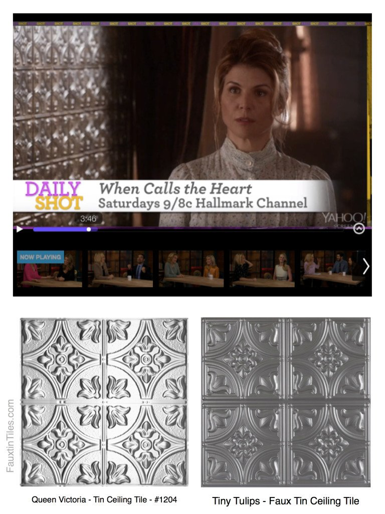 Decorative Wall Panels on When Calls the Heart on the Hallmark Channel