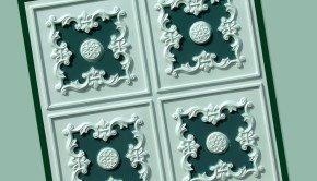 Green Decorative Ceiling Tiles