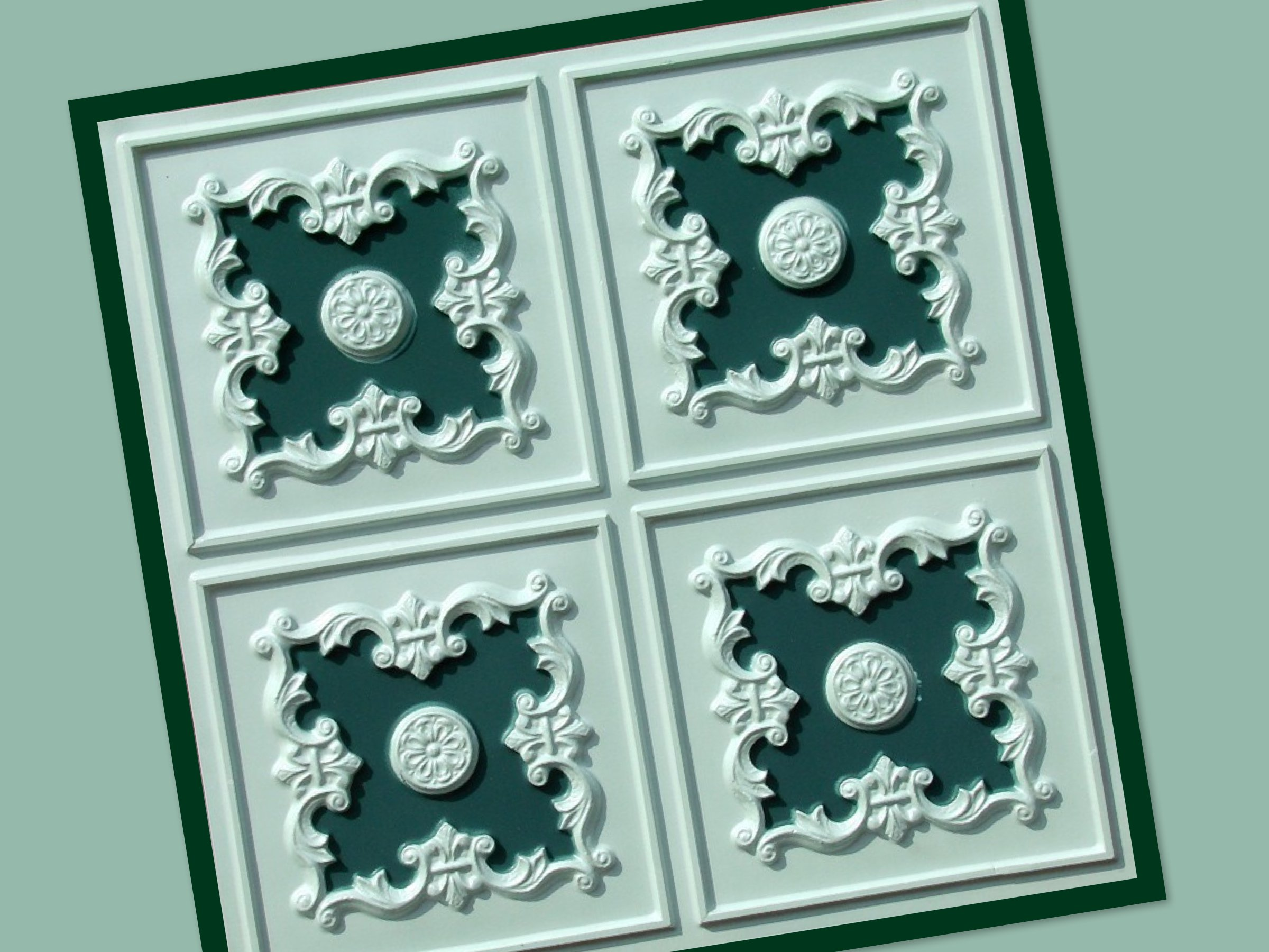 Green Decorative Ceiling Wall Tiles For St Patrick 39 S Day