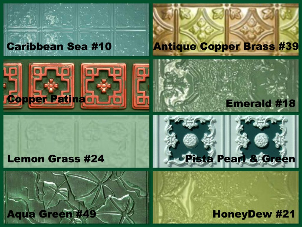 Green Decorative Ceiling Amp Wall Tiles For St Patrick S Day
