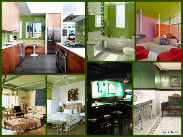 Green Decorative Walls & Ceilings