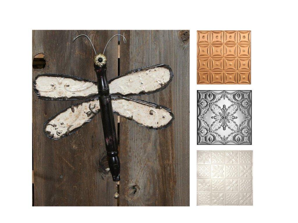 Ceiling Tile Ideas Diy Dragonfly Decorative Tin Tiles