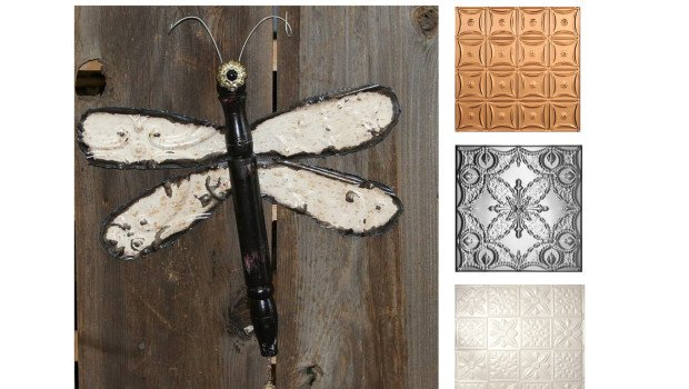 Ceiling Tile Dragonfly Wall Art