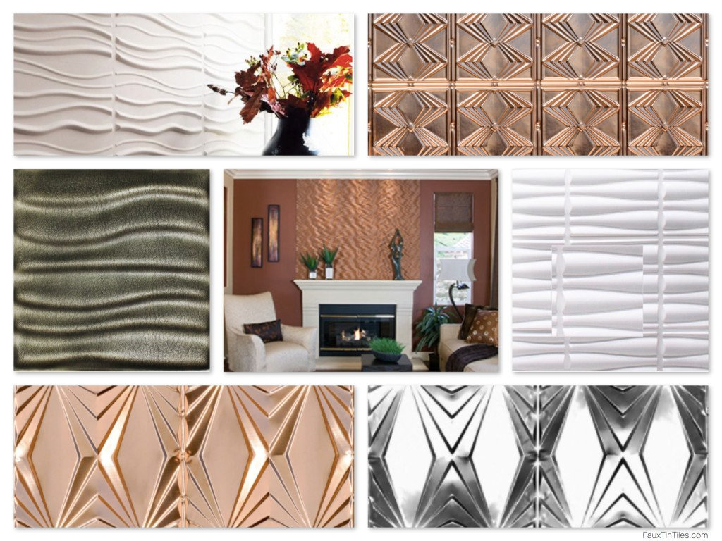 Wavy Design Decorative Wall Art Panels