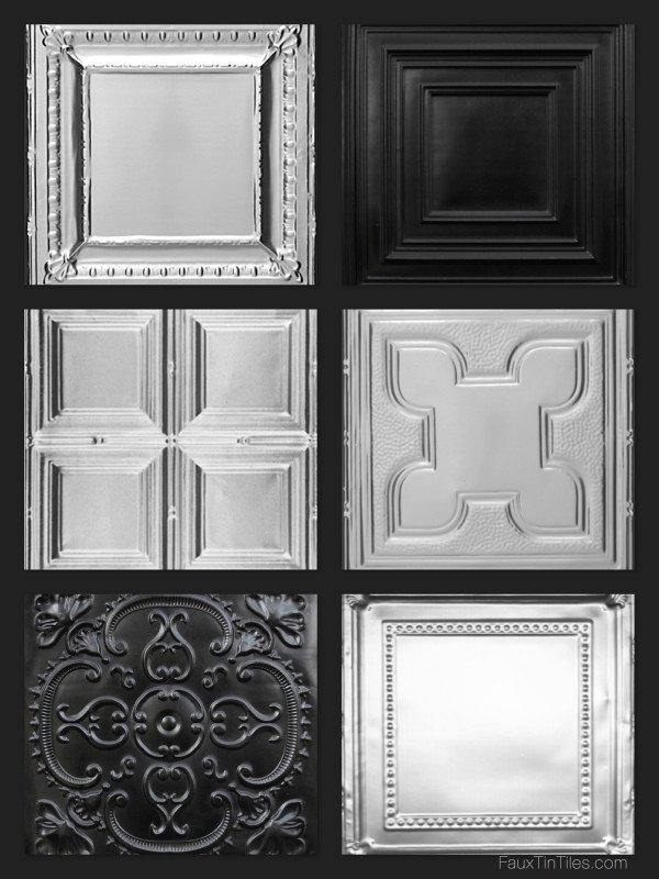 Black Ceiling Tile Styles