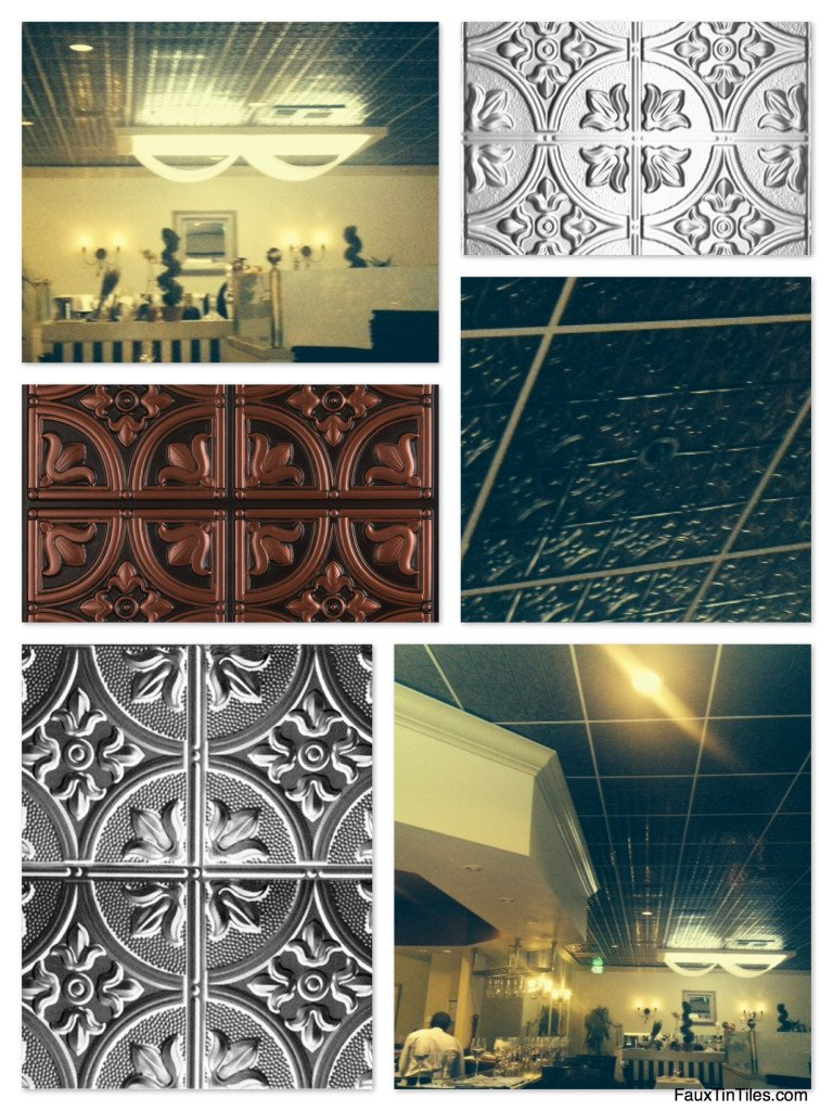 Decorative Ceiling Tiles at The WineSellar & Brasserie in San Diego