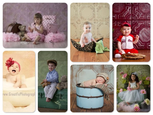 Faux Tin Tile Photography Backdrops
