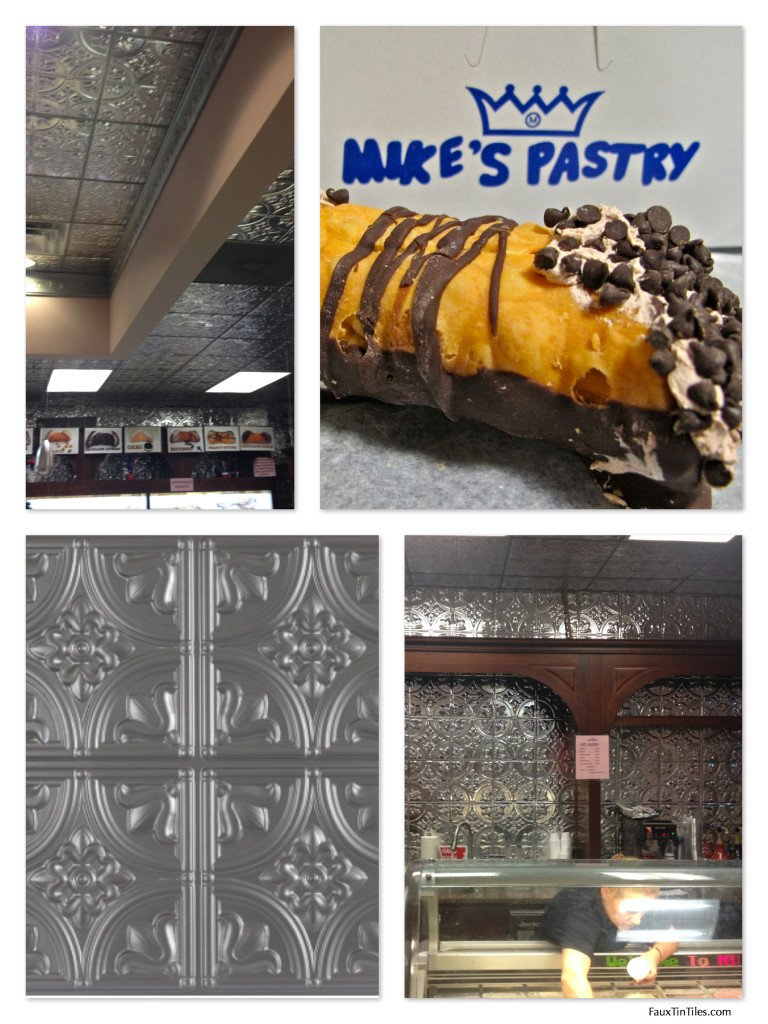 Decorative Faux Tin Tile Ceilings & Walls at Mike's Pastry in Boston!