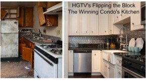 Flipping The Block Winning Condo Kitchen Before & After Photos, Decorative Tin Tile Backsplash