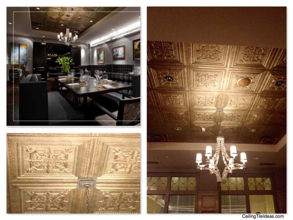 Decorative Ceiling Tiles at The Ballantyne Hotel Gallery Restaurant