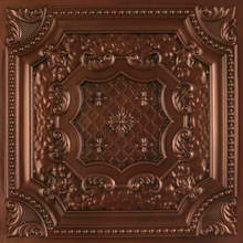 elizabethan_shield_faux_tin_ceiling_tile_DCT04_antique_coppper