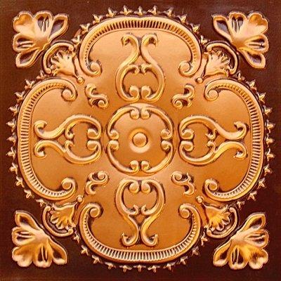 Alhambra Antique Copper Faux Tin Ceiling Tile #217