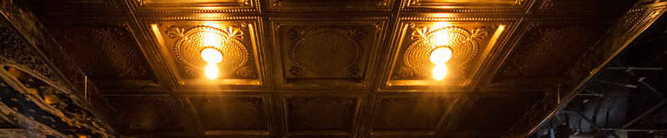 Kettner Exchange Tin Ceiling & Lighting