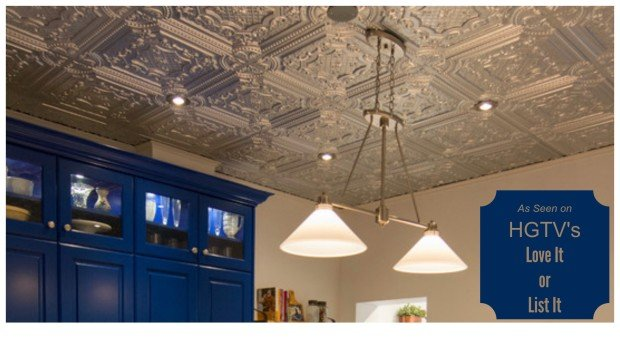 Decorative Ceiling Tiles as Seen on HGTV Love It or List It