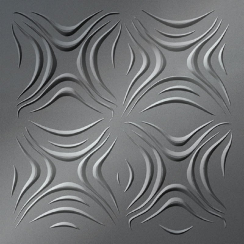 Dogwood Mirror Silver Faux Tin Ceiling Tiles