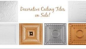 Decorative Ceiling Tiles on Sale