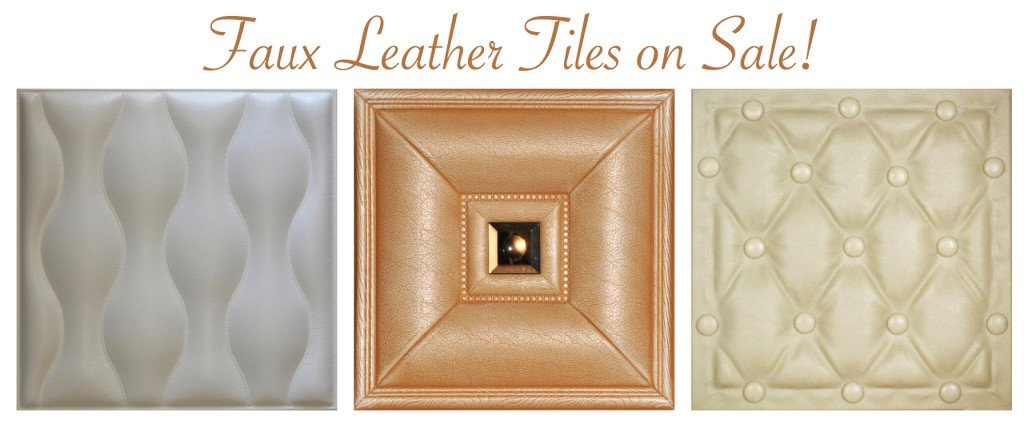 Faux Leather Tiles on Sale, Decorative Ceiling Tiles Sale