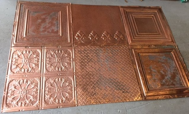 on sale solid copper ceiling tiles mix