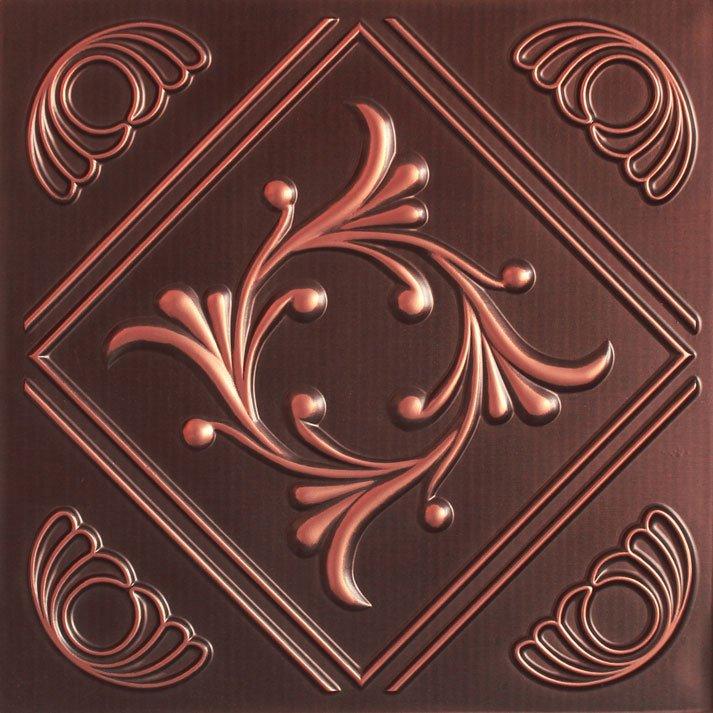 253 Antique Copper Faux Tin Ceiling Tiles