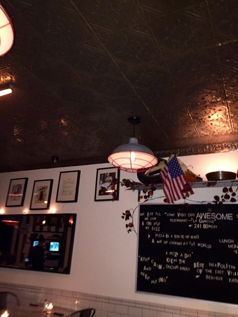 Decorative Tin Ceiling at Motorino Pizza NYC