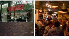 Tin Ceiling at Motorino Pizza NYC